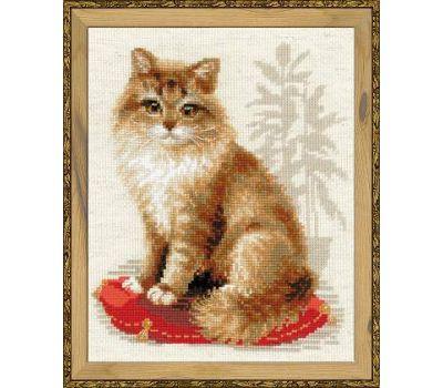 """1525 Набор для вышивания """"Риолис"""" Кошка домашняя 24х30 см, 1525"""