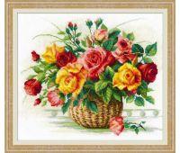 """1722 Набор для вышивания """"Риолис"""" Корзина с розами 35х30 см"""