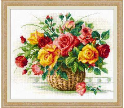 """1722 Набор для вышивания """"Риолис"""" Корзина с розами 35х30 см, 1722"""