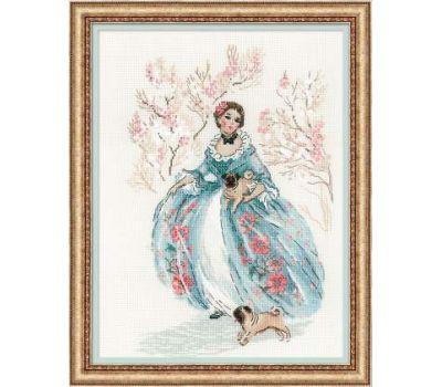 """1723 Набор для вышивания """"Риолис"""" Рококо, Прогулка 25х33 см, 1723"""