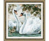 """1726 Набор для вышивания """"Риолис"""" Белые лебеди 25х25 см"""