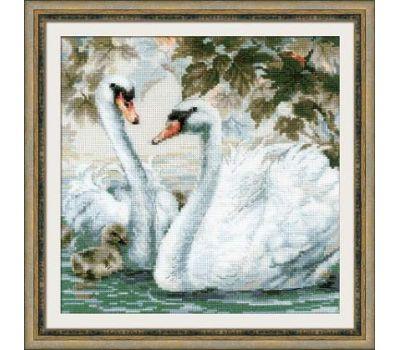 """1726 Набор для вышивания """"Риолис"""" Белые лебеди 25х25 см, 1726"""