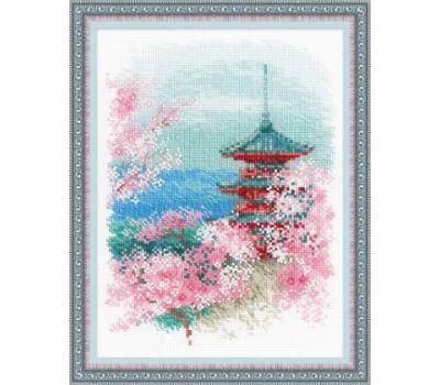 """1743 Набор для вышивания """"Риолис"""" Сакура, Пагода 18х24 см, 1743"""