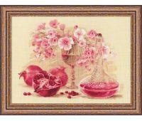 """1618 Набор для вышивания """"Риолис"""" Розовый гранат 40х30 см"""