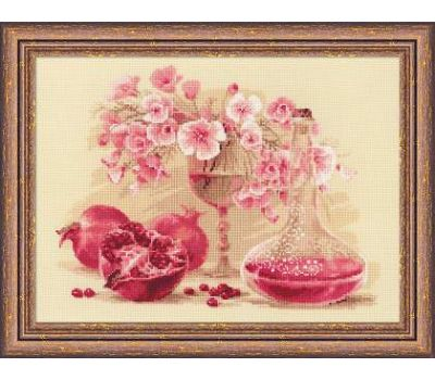 """1618 Набор для вышивания """"Риолис"""" Розовый гранат 40х30 см, 1618"""