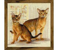"""1671 Набор для вышивания """"Риолис"""" Абиссинские кошки 40х40 см"""
