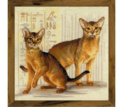 """1671 Набор для вышивания """"Риолис"""" Абиссинские кошки 40х40 см, 1671"""