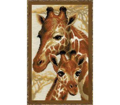 """1697 Набор для вышивания """"Риолис"""" Жирафы 22х38 см, 1697"""