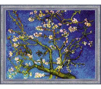 """1698 Набор для вышивания """"Риолис"""" Цветущий миндаль по мотивам картины В. Ван Гога 40х30 см, 1698"""