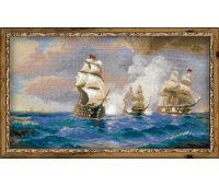 "1154 Набор для вышивания ""Риолис"" Бриг Меркурий, атакованный двумя турецкими кораблями 40х24 см"