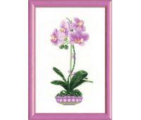 """1163 Набор для вышивания """"Риолис"""" Сиреневая орхидея 21х30 см"""