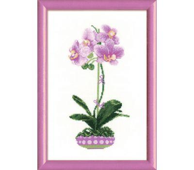 """1163 Набор для вышивания """"Риолис"""" Сиреневая орхидея 21х30 см, 1163"""