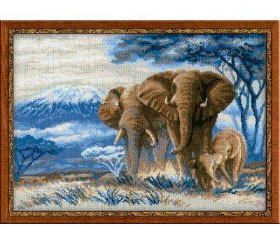 """1144 Набор для вышивания """"Риолис"""" Слоны в саванне 40х30 см, 1144"""