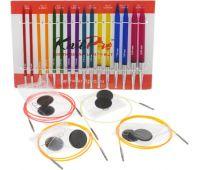"""50618 Knit Pro н-р """"Deluxe Set """" съемных спиц """"Trendz"""" (в наборе: спицы съемные (3,5мм, 4мм, 4,5мм, 5мм, 5,5мм, 6мм, 7мм, 8мм), тросик (60см, 80см-2шт, 100см), заглушка с ключиком-4 пары), акрил, 8 видов спиц в наборе"""