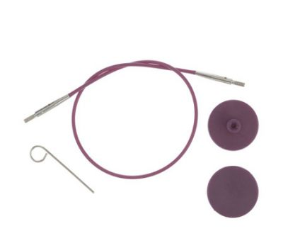 10502 Knit Pro Тросик (заглушки 2шт, ключик) для съемных спиц, длина 56см (готовая длина спиц 80см), фиолетовый, 10502