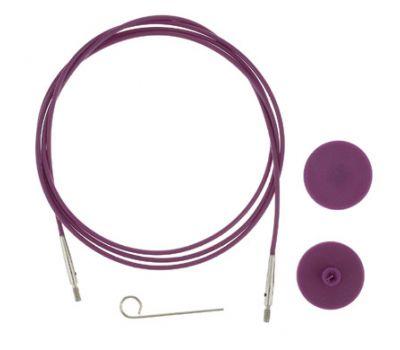 10503 Knit Pro Тросик (заглушки 2шт, ключик) для съемных спиц, длина 76см (готовая длина спиц 100см), фиолетовый, 10503