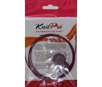 10504 Knit Pro Тросик (заглушки 2шт, ключик) для съемных спиц, длина 94см (готовая длина спиц 120см), фиолетовый