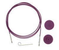 10561 Knit Pro Тросик (заглушки 2шт, ключик) для съемных спиц, длина 28 (готовая длина спиц 50)см, фиолетовый