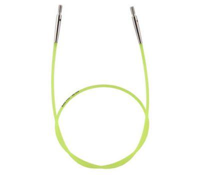 10633 Knit Pro Тросик (заглушки 2шт, ключик) для съемных спиц, длина 35см (готовая длина спиц 60см), зеленый, 10633