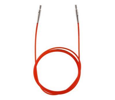 10635 Knit Pro Тросик (заглушки 2шт, ключик) для съемных спиц, длина 76см (готовая длина спиц 100см), красный, 10635