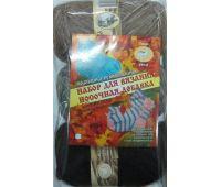 Хозяюшка-Рукодельница Носочная добавка Калейдоскоп цветов (набор 3 мотка, носочные спицы)